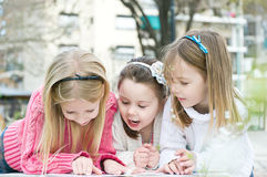 Three sisters in the park Stock Photography