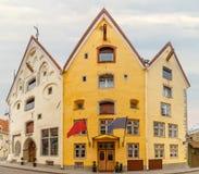 Three Sisters on Pikk street in Tallinn, Estonia Stock Photography