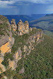 Three sisters rock in Blue Mountain Royalty Free Stock Images