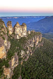 Three Sisters Rock Formation Blue Mountains Australia Royalty Free Stock Photo