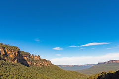 Three Sisters rock formation in the Blue Mountains National Park, Australia Stock Image
