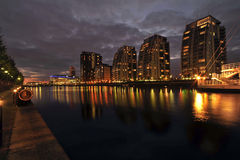 The three sisters Salford Quays Manchester Stock Image