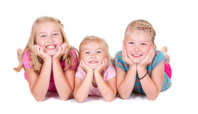 Three sisters smiling Royalty Free Stock Photography