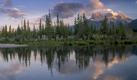 Three Sisters at sunset Royalty Free Stock Photography