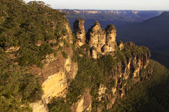 Three Sisters at Sunset. The Three Sisters at sunset in the Blue Mountains Royalty Free Stock Photography