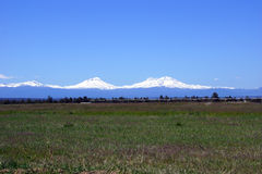Three Sisters volcanos Stock Image