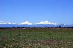 Three Sisters volcanos Stock Image