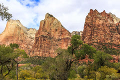 Three Sisters in Zion Stock Image