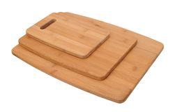 Three size of cutting board Stock Images