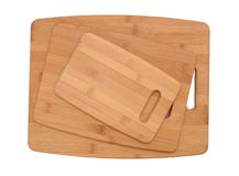 Three size cutting boards Stock Images