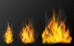 Three sizes of fire. Illustration Royalty Free Stock Images