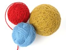 Three skeins Stock Photos