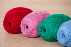 Three skeins of yarn Royalty Free Stock Images