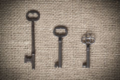 Three Skeleton Keys Stock Images