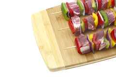 Three skewers. Stock Photos