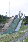 Three ski jumps Royalty Free Stock Photo