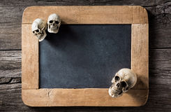 Three skull at the corner Royalty Free Stock Photography