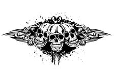Three skulls Royalty Free Stock Images