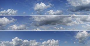 Three sky panoramas. Royalty Free Stock Image