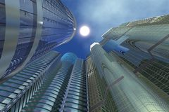 Three Sky-scrapers Stock Image