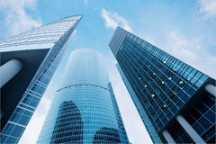 Three skyscrapers Royalty Free Stock Photography