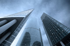 Three skyscrapers Stock Images