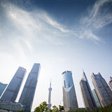 Three skyscrapers, business center in shanghai Stock Photo