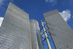 Skyscrapers & Pylon Stock Photography