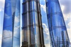 Three Skyscrapers Liujiashui Shanghai China Royalty Free Stock Photos