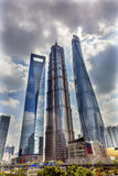 Three Skyscrapers Liujiashui Shanghai China Royalty Free Stock Image