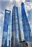 Three Skyscrapers Liujiashui Shanghai China Royalty Free Stock Photography