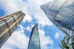 Three Skyscrapers Liujiashui Shanghai China Royalty Free Stock Photo
