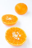 Three Sliced orange fruit Royalty Free Stock Image