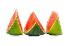 Three sliced Piece of fresh Watermelon Stock Image