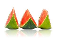 Three sliced Piece of fresh Watermelon Stock Photography
