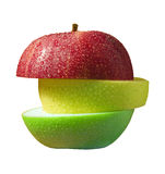 Three slices of apple Royalty Free Stock Image