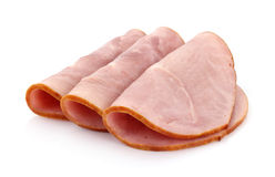 Three slices of baked ham Royalty Free Stock Images