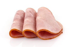 Three slices of baked ham Royalty Free Stock Image