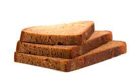 Three slices of bread Stock Image