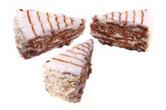 Three Slices of cake Royalty Free Stock Images