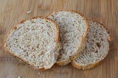 Three slices of dark bread Stock Photo
