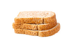 Three slices of fresh bread Royalty Free Stock Image