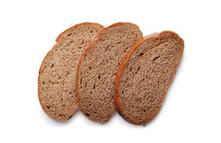 Three slices of fresh rye bread Stock Photo