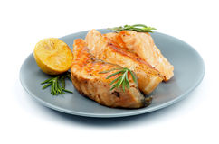 Grilled Salmon Stock Images