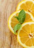 Three slices of lemon Royalty Free Stock Photo