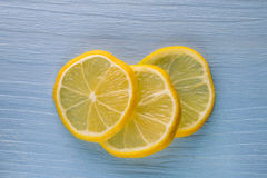 Three slices of lemon Royalty Free Stock Images