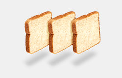 Three slices of light bread Royalty Free Stock Photos
