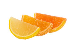 Three slices of  marmalade lying one on another. Stock Photos