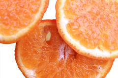 Three slices of orange Stock Photo