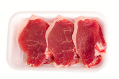 Three slices of raw steak Royalty Free Stock Images
